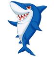 Cute shark cartoon vector image