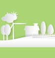 eco nature environment white paper cut stylegreen vector image