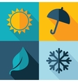 four seasons weather icon set vector image