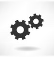 gearwheels simple icon vector image