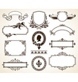 Vector set of ornate frames vector image