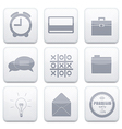 white business app icon set Eps10 vector image