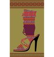 Woman Shoe vector image