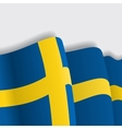 Swedish waving Flag vector image vector image