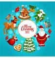 Christmas holidays cartoon poster for xmas design vector image