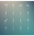 Tools icons on Retina background vector image