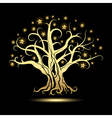GoldenTree with Stars vector image