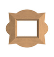 Creative wooden frame of an empty photo fra vector image
