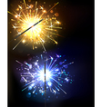 Yellow and Blue Sparkler vector image