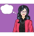 Asian woman pop art comic vector image