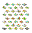 Sport Facility Buildings Set 3D Isometric City vector image