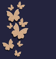 Carton paper butterflies with copy space vector image