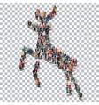 deer isometrick people 3d vector image