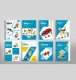 flyers for car repair or car service concept vector image