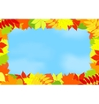 Frame of autumn leaves against the sky vector image