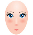 Head of a woman with big eyes Mannequin vector image