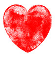 Heart symbol watercolor texture vector image