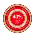 Label on 40 percent discount vector image