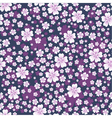 Seamless floral pattern with white colored flowers vector image