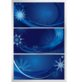 blue frosty pattern vector image vector image