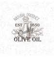 Hand drawn Olive oil label vector image
