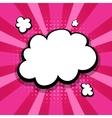 empty colored speech bubble pop art pink vector image