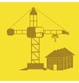 monochrome icon set with Crane construction vector image