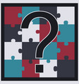 puzzle with question mark vector image vector image