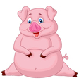 Fat pig cartoon vector image vector image