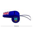 A Beautiful Blue Whistle of Montserrat Flag vector image