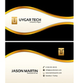 Decorative business card vector