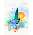 wind surfing vector image vector image