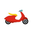 Classic scooter icon flat style vector image