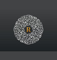 calligraphic logo template luxury retro vector image