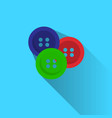 colorful buttons for clothes garments on blue vector image