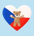 Czech Teddy Bears vector image