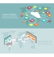 modern flat isometric cloud storage email vector image