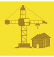 monochrome icon set with Crane construction vector image
