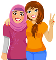 muslimfriend small vector image