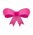 ribbon bow girl decoration ornament icon vector image