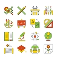 School education icons vector image