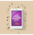 Summer poster Hello summer typographic vector image