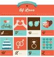 Valentines day ABC alphabet poster vector image