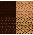coffee beans seamless pattern set vector image