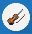of media symbol on violin flat vector image
