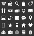 Ecommerce icons on black background vector image vector image