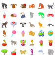 Good zoo icons set cartoon style vector image
