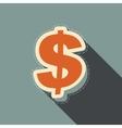 dollar stickers vector image vector image
