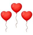 Three Balloon Hearts vector image vector image