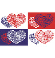 shape of hearts icons vector image